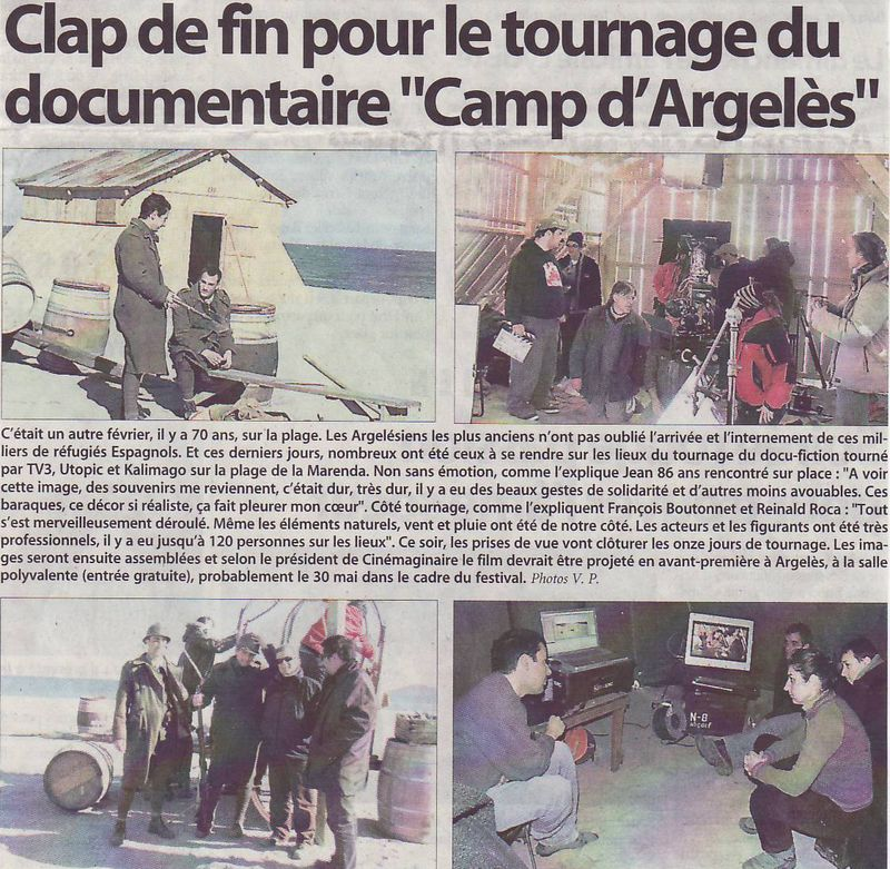Tournage doc camp argeles
