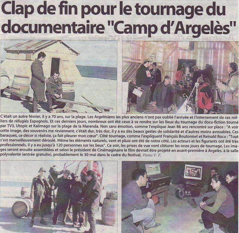 Tournage doc camp argeles